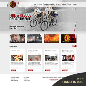 Toledo Fire & Rescue Responsive Design